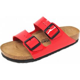 Birkenstock Arizona Sandals Birko-Flor Narrow Women, patent cherry/birko-flor